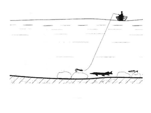 Вертикальная проводка (отвесное блеснение)