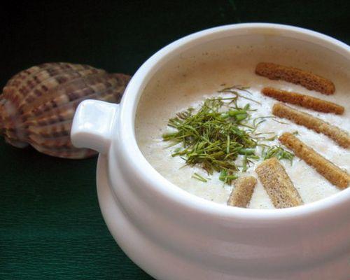 Крем-суп с чавычей