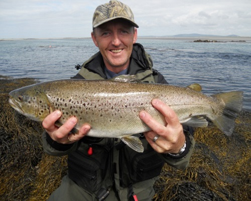 Ловля морской кумжи в устье реки и море