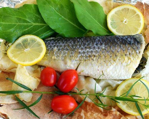 Рыба в лаваше с тархуном
