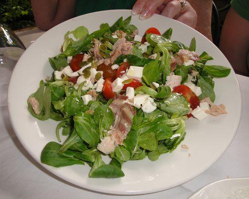 Салат из усача с оливками