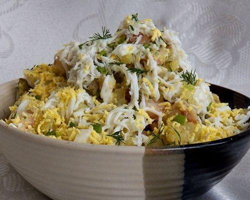 Салат из копчёного сига с картофелем