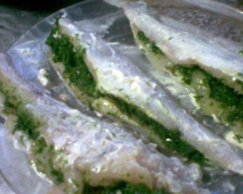 Бёрш с зеленой начинкой