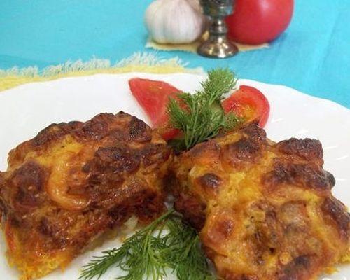 Филе окуня в сырно-чесночном соусе