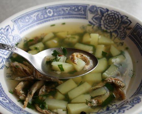 Суп из сушёного снетка