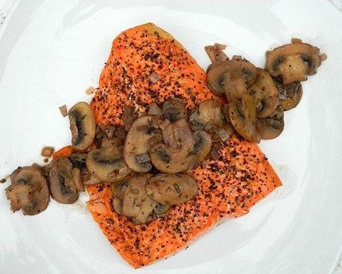Сёмга с грибами