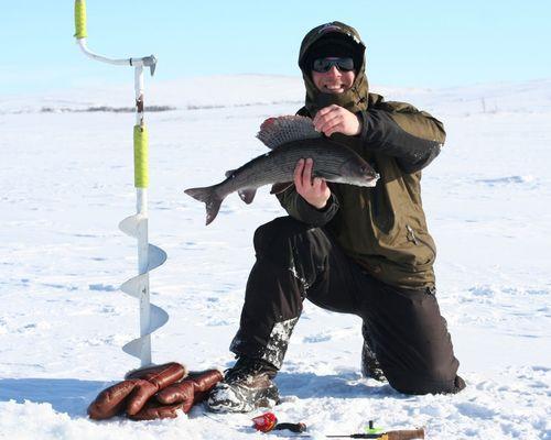 Зимняя рыбалка на хариуса в Коми