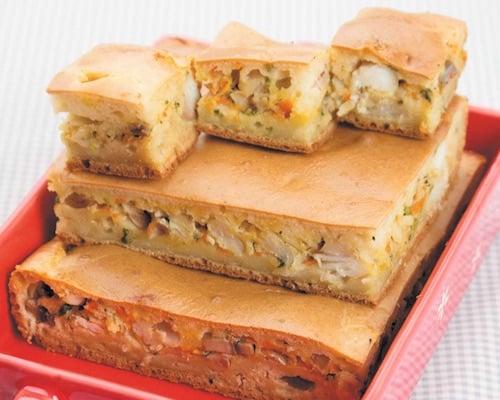 Рыбный пирог с судаком и форелью