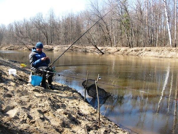 ловля фидером на малых и средних реках