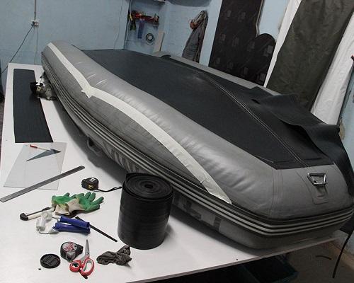 Виды проколов и способы заклейки лодки ПВХ