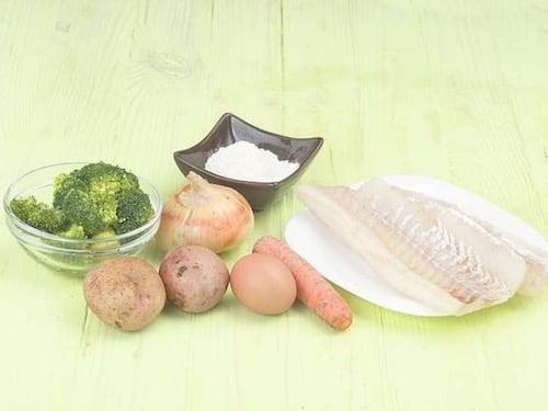 Оладьи с рыбой - ингредиенты