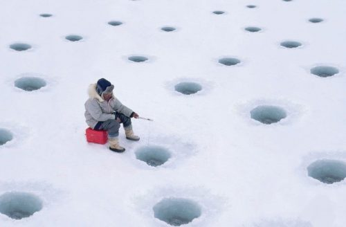 Ловля судака зимой на блесну