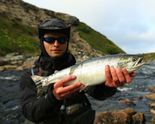 Ловля атлантического лосося на реке Типановка
