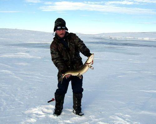 Мини-сафари на снегоходах на рыбалку по тундровым озерам