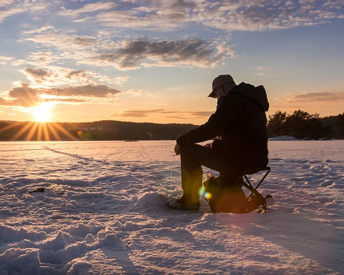Тактические приемы на речной рыбалке зимой