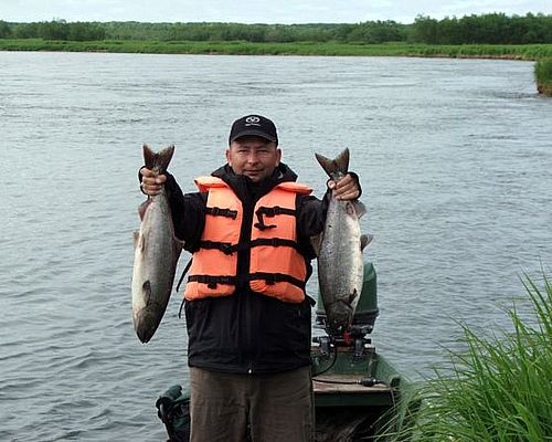 Рыбалка на чавычу на реке Большой