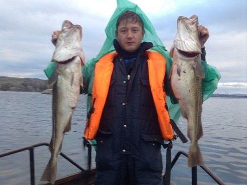 Морская рыбалка на катере в Мурманской области с Антоном