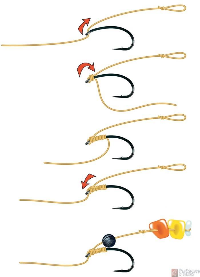Вязание рыболовных крючков для бойлов 77